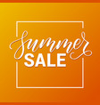 modern brush calligraphy summer sale vector image vector image