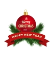 New Year greeting card logo vector image vector image