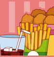 nugget combo fast food vector image