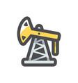 oil derrick silhouette icon cartoon vector image