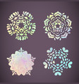 pastel rainbow mandala with floral patterns vector image vector image