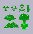 poisonous green cloud collection vector image