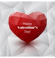 Red abstract polygonal heart vector image