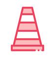 road cone icon outline vector image