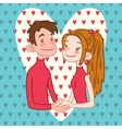 Romantic Couple Holding Hands vector image vector image