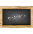 School nero Board on wooden background vector image vector image