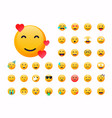 set emoticons emoji flat design avatar vector image