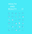 set linear icons health and beauty vector image