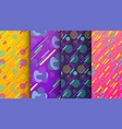 set of abstract seamless background available vector image