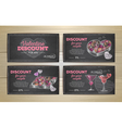 Set of valentine discount cards vector image vector image