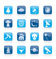 space and universe icons vector image vector image