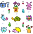 spring colorful doodles vector image vector image