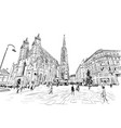st stephens cathedral vienna austria vector image vector image