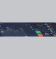 stock market perspective dashboard vector image vector image