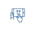 swipe gesture line icon concept swipe gesture vector image vector image