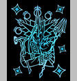 symbol with medieval legendary warrior vector image