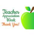 teacher appreciation week holiday concept vector image vector image