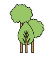 trees plants isolated icon vector image vector image