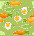 vegetables seamless pattern carrot cucumber vector image vector image
