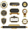 Vintage gold frame banners vector image vector image