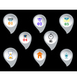Web buttons with signs vector image