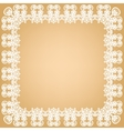 White lace frame vector image vector image