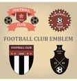 Set soccer football emblems vector image