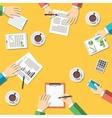 Teamwork business meeting concept vector image