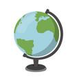 cartoon globe icon schools supplies isolated vector image