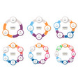 business infographics circular arrows with 3-8