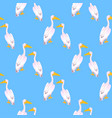 a couple pink pelicans waterfowl a large vector image vector image