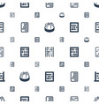 abacus icons pattern seamless white background vector image vector image