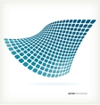 Abstract blue mosaic wave background vector image vector image