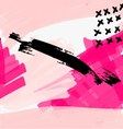 Abstract pink with black grunge vector image