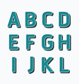 Alphabet set type fonts set dot colour style vector image