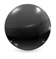 black glass ball vector image vector image