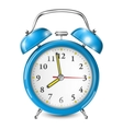 Blue Alarm Clock Isolated On White vector image vector image