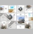 brochure layout square format covers design vector image vector image