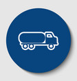 car transports sign white contour icon in vector image vector image