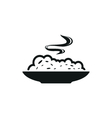 cereal bowl simple black icon on white background vector image vector image