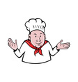 chef cook baker hands out vector image vector image