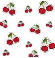 cherries background pattern vector image vector image