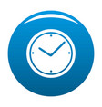 clock icon blue vector image