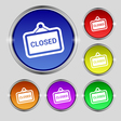 close icon sign Round symbol on bright colourful vector image vector image