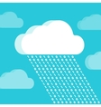 Cloud and rain consisting of numbers vector image vector image
