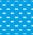 coffin pattern seamless blue vector image vector image