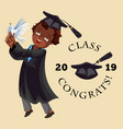 college graduation flat colorful poster vector image