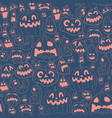 colorful halloween design pattern vector image