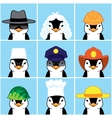 Cute Penguins of Different Professions vector image vector image