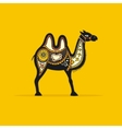 Decorative camel vector image vector image